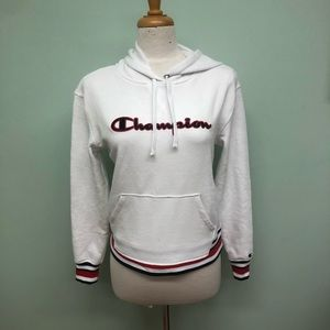 Champion   Women's White Varsity Hoodie   Size XS